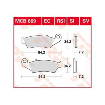 Pastiglie Freno MCB669RSI