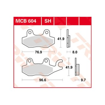 Pastiglie Freno MCB604SH