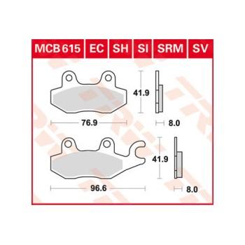 Pastiglie Freno MCB615SI
