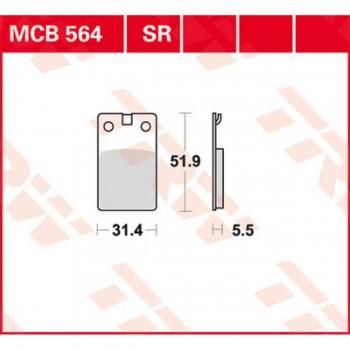 Pastiglie freno MCB564...