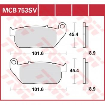 Pastiglie Freno MCB753SV