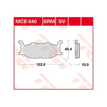 Pastiglie Freno MCB640SRM
